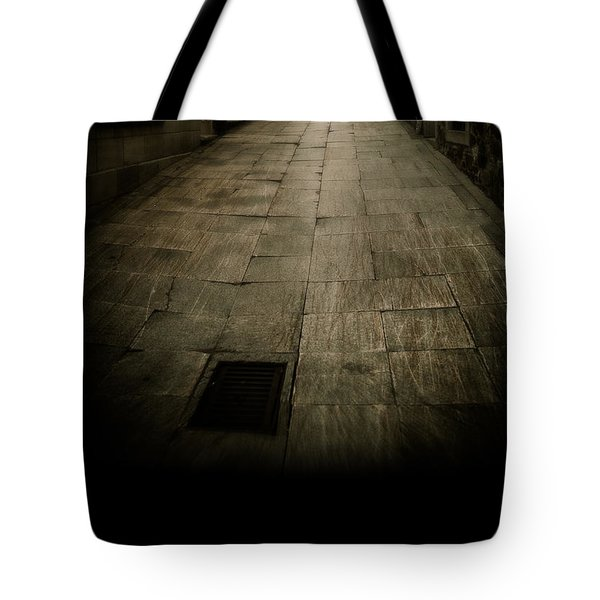 Dark Alley In Old Historic City Tote Bag