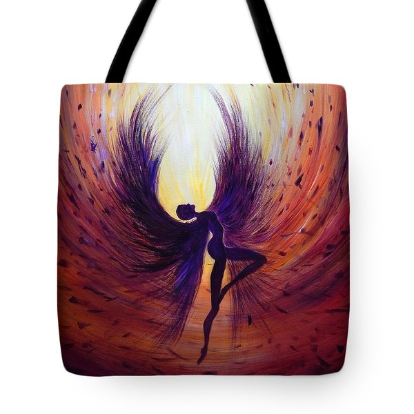 Dark Angel Tote Bag by Lilia D