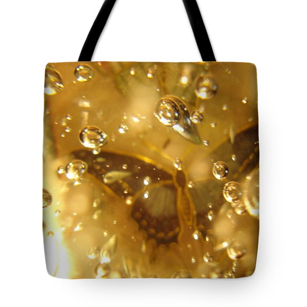 Dark Butterfly With Bubbles Tote Bag