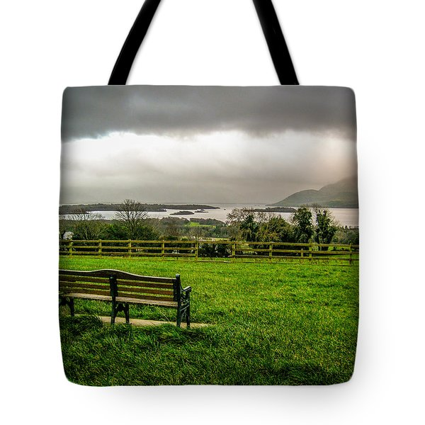Dark Clouds Over Killarney Lakes Tote Bag