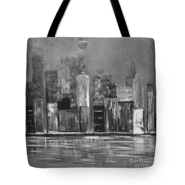 Dark Clouds Over The City Tote Bag