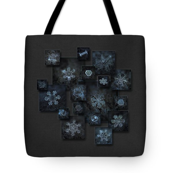 Snowflake Collage - Dark Crystals 2012-2014 Tote Bag