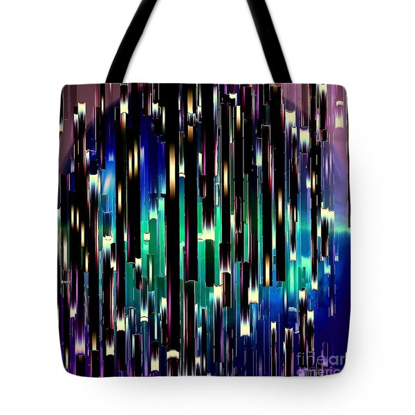 Tote Bag featuring the digital art Dark Crystals by Greg Moores