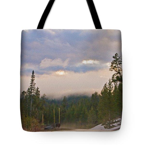 Dark Forest Morning Tote Bag