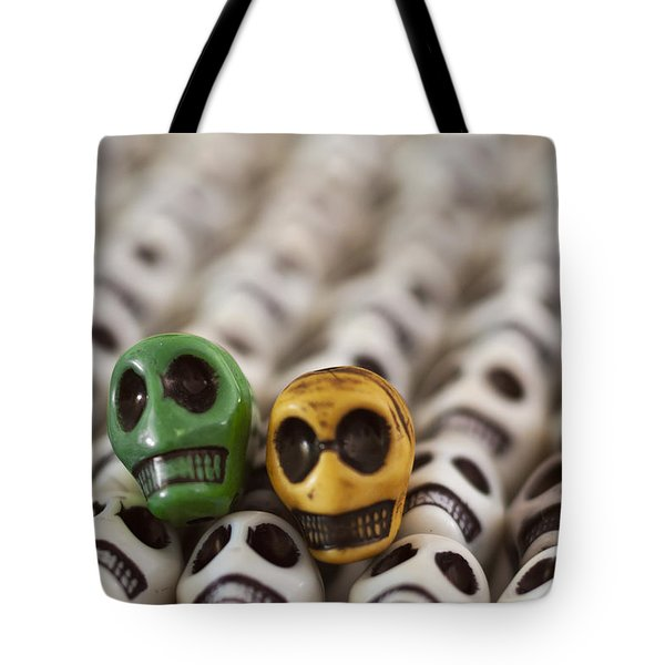 Dark Green And Yellow Tote Bag by Mike Herdering
