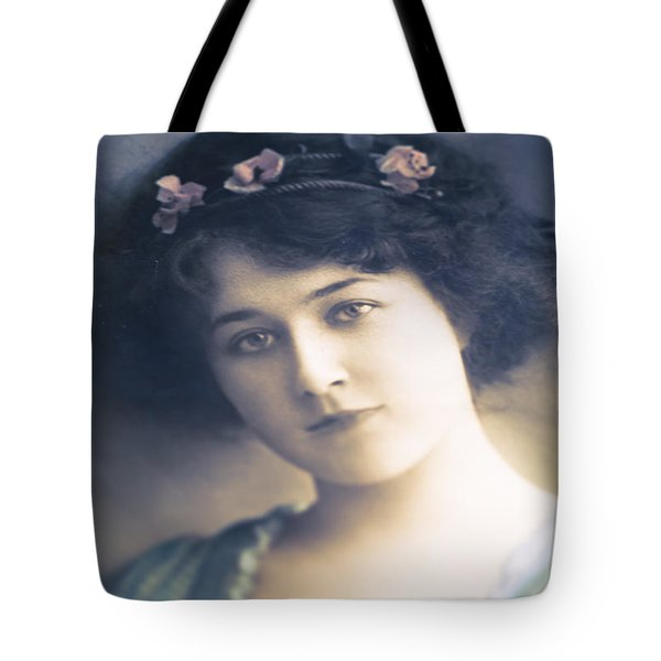 Dark Haired Beauty Tote Bag by Jan Bickerton