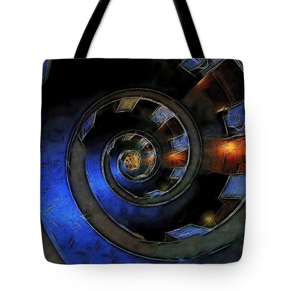 Dark Hallway Down Tote Bag