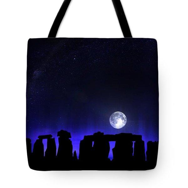 Tote Bag featuring the digital art Dark Henge by Mark Taylor