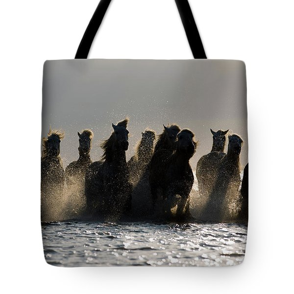 Dark Horses Tote Bag by Carol Walker