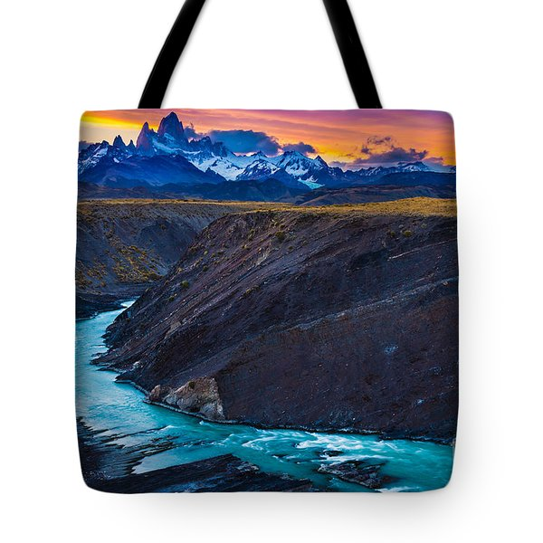 Dark River Canyon Tote Bag