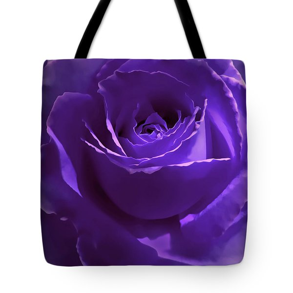 Dark Secrets Purple Rose Tote Bag by Jennie Marie Schell