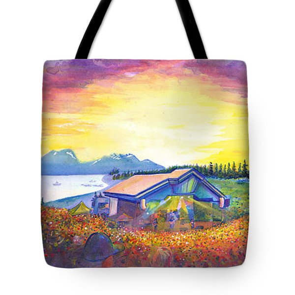 Dark Star Orchestra Dillon Amphitheater Tote Bag by David Sockrider