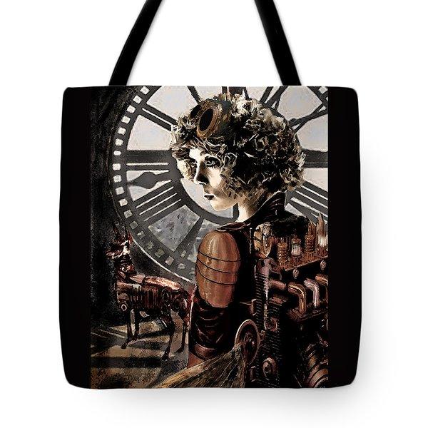 Dark Steampunk Tote Bag by Jane Schnetlage