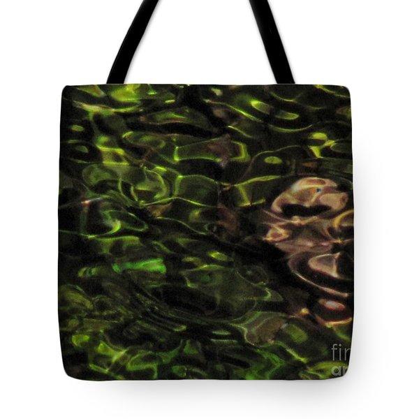 Dark Watery Green Tote Bag