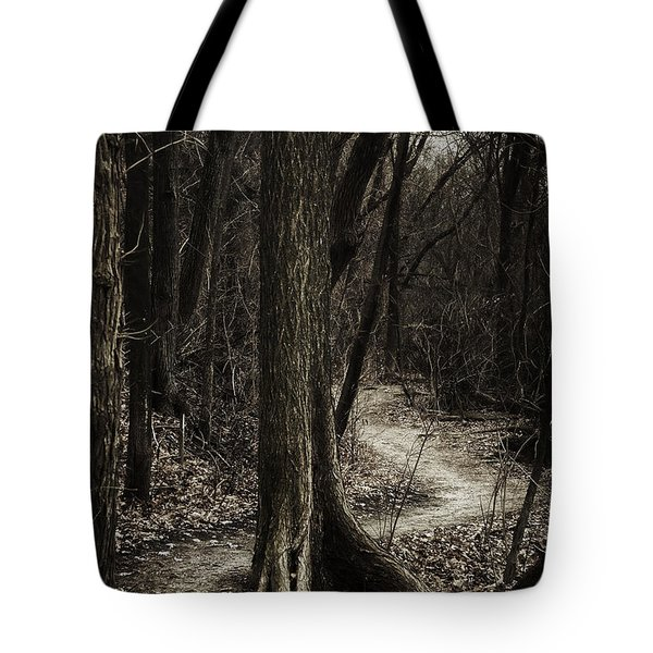 Dark Winding Path Tote Bag
