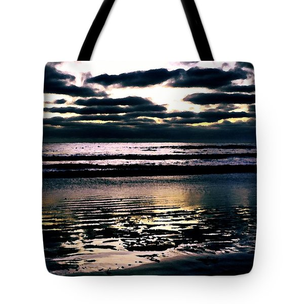 Darkness Can Only Be Scattered By Light Tote Bag by Sharon Soberon