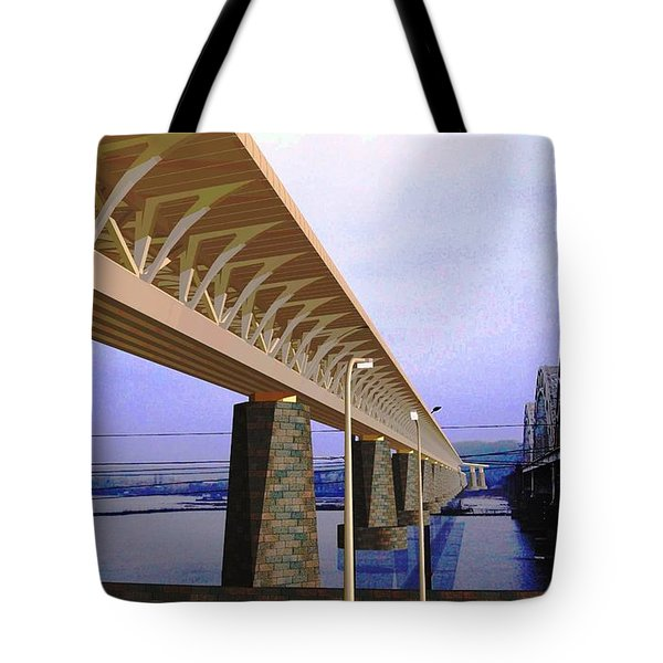 Darnitsky Bridge Tote Bag