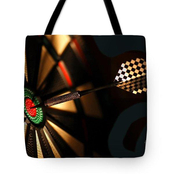 Dart Board In Bar Tote Bag by Michal Bednarek