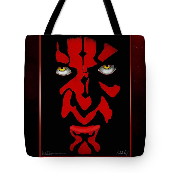 Tote Bag featuring the painting Darth Maul by Dale Loos Jr