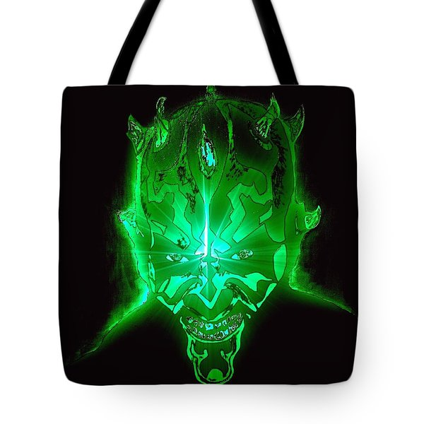 Darth Maul Green Glow Tote Bag