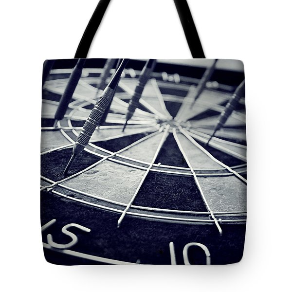 Darts Anyone Tote Bag by Trish Mistric