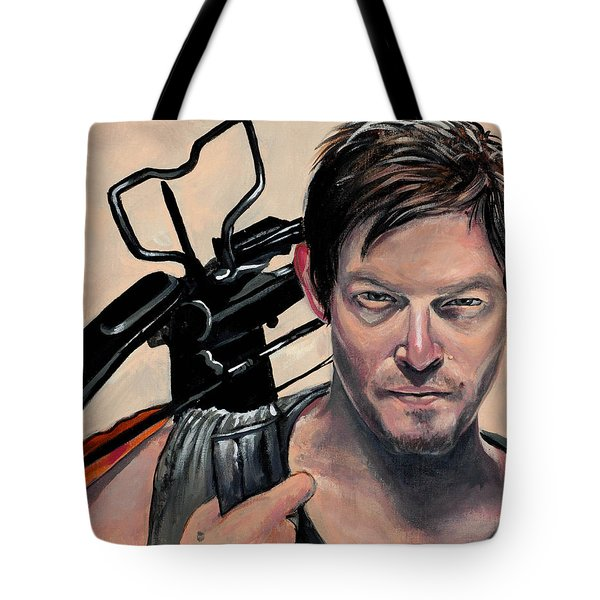 Daryl Dixon Tote Bag by Tom Carlton
