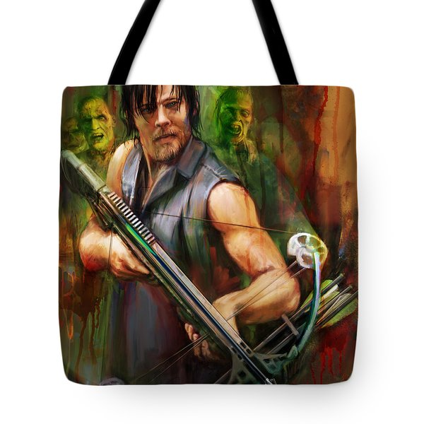 Daryl Dixon Walker Killer Tote Bag by Rob Corsetti