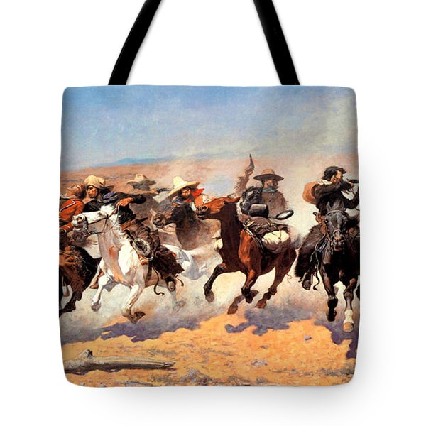 Dash For The Timber Tote Bag by Frederic Remington