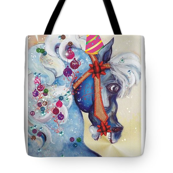Dashing Through The Snow Tote Bag by Carolyn Weltman