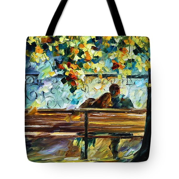 Date On The Bench Tote Bag