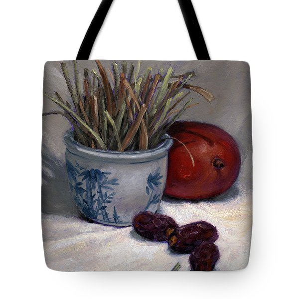 Dates Lemongrass And Mango Tote Bag