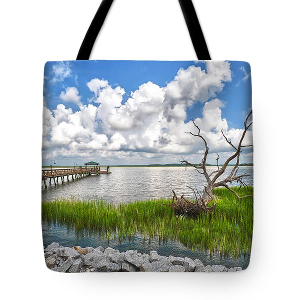 Daufuskie Dead Tree Tote Bag by Renee Sullivan