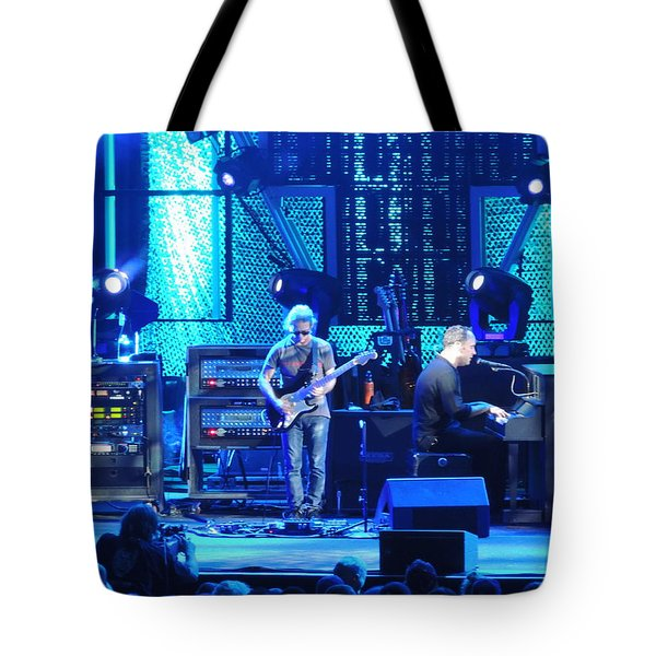 Tote Bag featuring the photograph Dave And Tim Playing Out Of My Hands by Aaron Martens