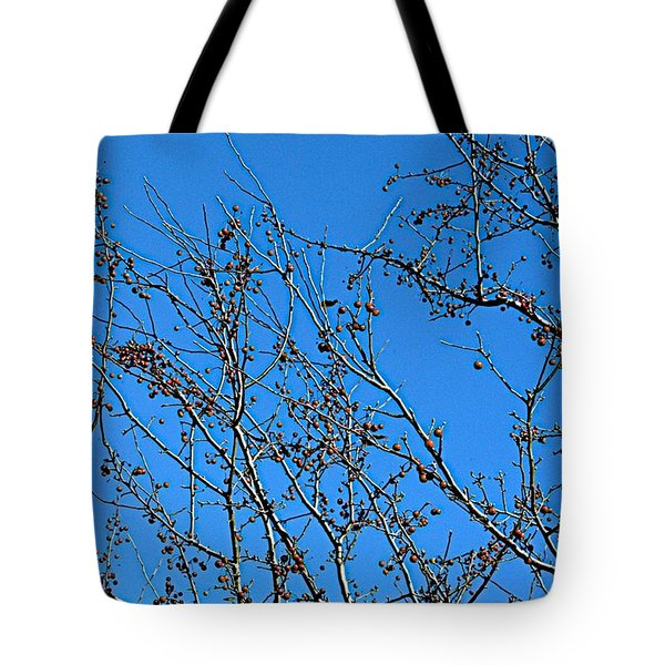 Dave's Blue Sky Tote Bag by Joseph Yarbrough