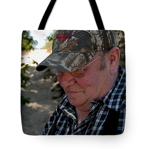 Dave's Smile Tote Bag by Joseph Yarbrough