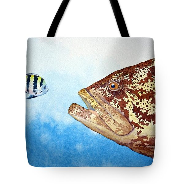 David And Goliath Tote Bag by Jeff Lucas