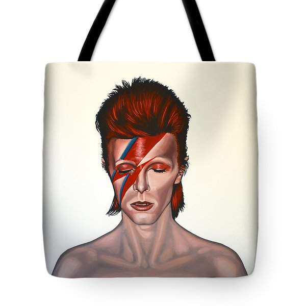 David Bowie Aladdin Sane Tote Bag by Paul Meijering