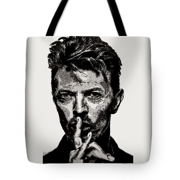 David Bowie - Pencil Tote Bag by Doc Braham