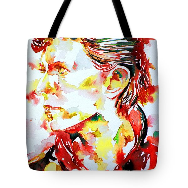 David Bowie Watercolor Portrait.1 Tote Bag by Fabrizio Cassetta