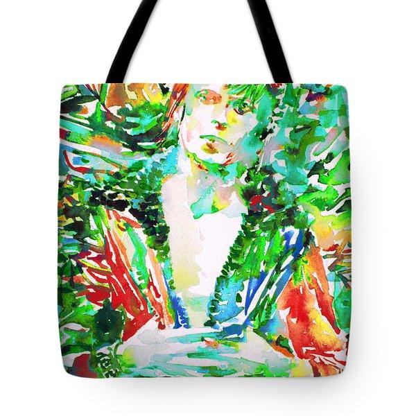 David Bowie Watercolor Portrait.2 Tote Bag