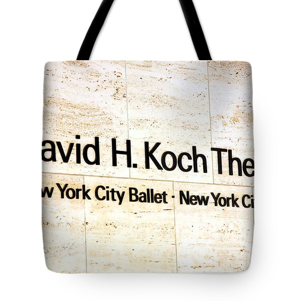 David H. Koch Theater Tote Bag