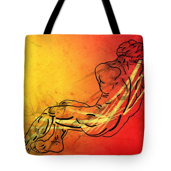 David Tote Bag by Mark Ashkenazi