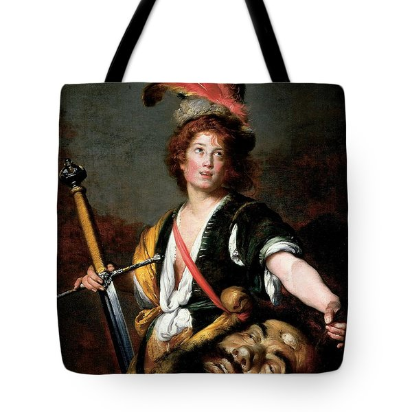 David With The Head Of Goliath, C.1636 Oil On Canvas Tote Bag