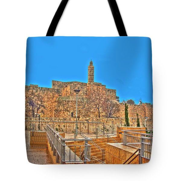 Tote Bag featuring the photograph Davids Citadel - Israel by Doc Braham