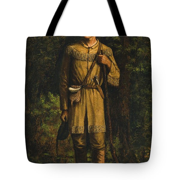 Tote Bag featuring the painting Davy Crockett by Celestial Images