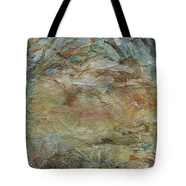 Tote Bag featuring the painting Dawn 2 by Mary Wolf