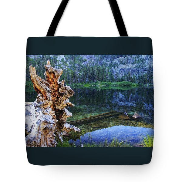 Tote Bag featuring the photograph Dawn Arrives At Eagle Lake by Sean Sarsfield