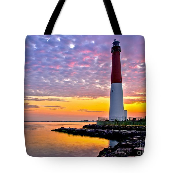 Dawn At Barnegat Lighthouse Tote Bag