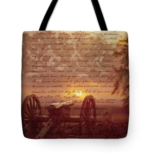 Dawn At Gettysburg Tote Bag