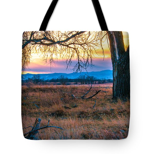 Setting Sun At Rocky Mountain Arsenal Tote Bag